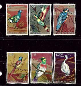 Comoro Is 285-90 MNH 1978 Birds