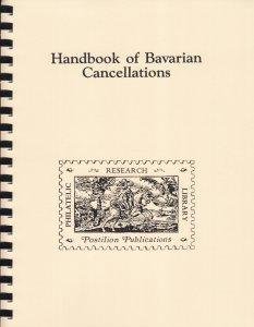 Handbook of Bavarian Cancellations, by Karl Winkler. Bayerischen Poststempel