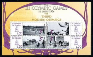 [93038] St. Vincent & Gren. 2009 Olympic Games St. Louis Athletics Sheet MNH