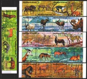 Burundi. 1971. 702-25. Fauna of africa. USED.