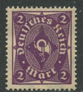 GERMANY. -Scott 185- Definitives -1922- Mint - Wmk 126 - Single 2m Stamp