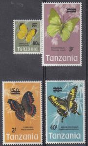 Tanzania Scott 50-53 Mint NH (Catalog Value $48.00)