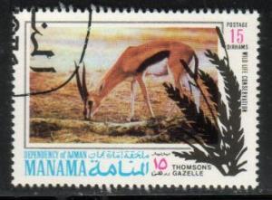 Gazelle, Manama stamp Used