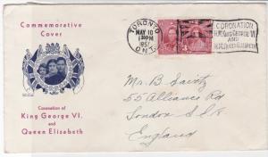 Canada 1957 Toronto Cancel Royal Commemorative Stamps Cover ref R 18112