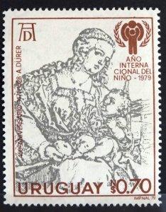 URUGUAY 1979 SC# 1040 Durer, International Year of the Child MNH OG