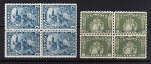 Canada #208 - #209 Extra Fine Never Hinged Block Duo