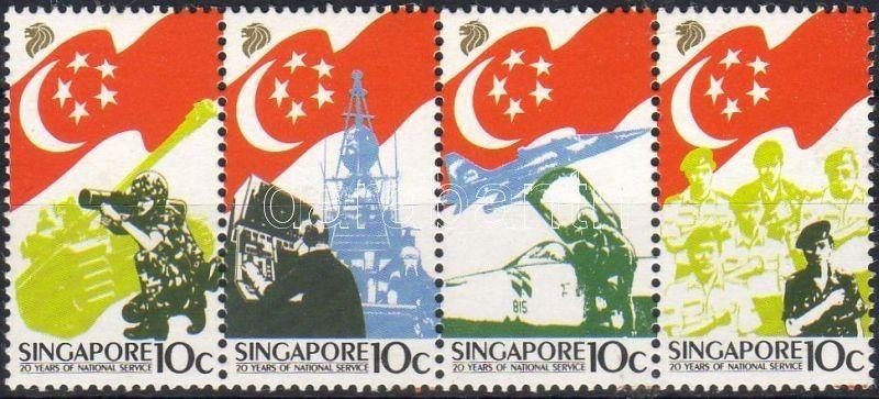 Singapore stamp National service stripe of 4 1987 MNH WS6233