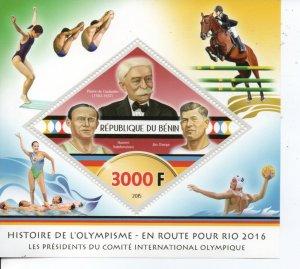 Benin 2015 Olympics MNH ..