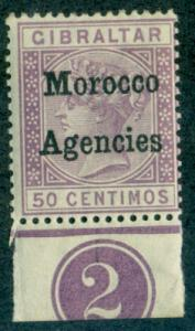 Great Britain Offices In Morocco #6  MNH  Scott $20.00