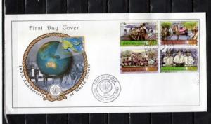 Papua New Guinea, Scott cat. 1254-1257. Scouting Centenary. First day cover.