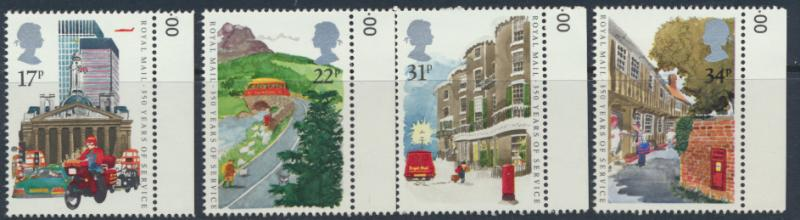 GB SG 1290 - 1293  SC# 1111-1114 Mint Never Hinged - Royal Mail Postal Service
