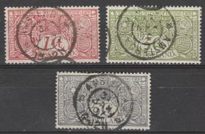 NETHERLANDS 1906 TUBERCULOSIS SET USED