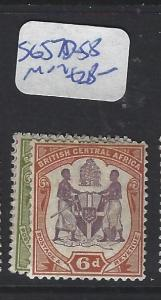 BRITISH CENTRAL AFRICA (PP1203B)   ARMS  SG 57D-58  MOG
