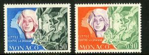 Monaco MNH 862-3 Drug Abuse