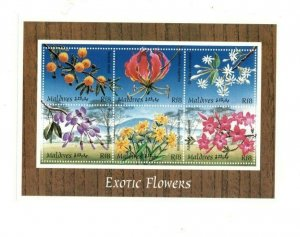 Maldives MNH S/S 9732 Exotic Flowers MUST SEE!!!!