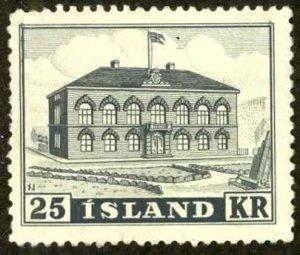 Iceland Sc# 273 MH 1952 25k Parliament Building