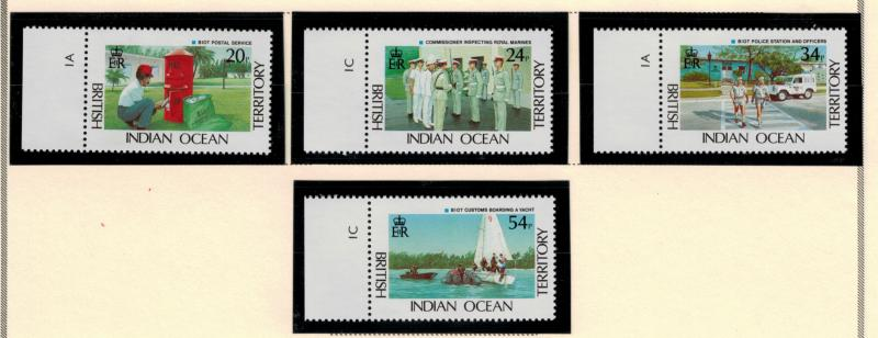 British Indian Ocean Territory (BIOT) Stamps Scott #111 To 114 (111-4), Mint ...