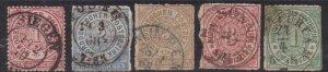 NORTH GERM/ CONF^^^^^1868  # 4/9 x5    CLASSICS   $$  #@ lar1203no