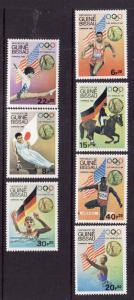 Guinea-Bissau-Sc#611-17-unused NH set-Sports-Olympics-Los Angeles 1984-