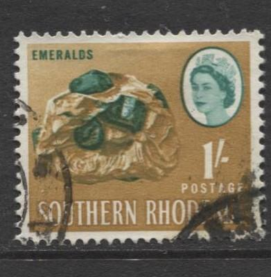 Southern Rhodesia- Scott 102 - QEII Definitives -1964 - Used- Single 1/- Stamp