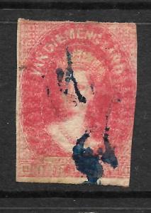 TASMANIA  1857-69  1d     QV  FU   DOUBLE PRINT   SG 29a