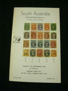 ROBSON LOWE AUCTION CATALOGUE 1978 AUSTRALIA DEPARTMENTALS I 'NAPIER' COLLECTION