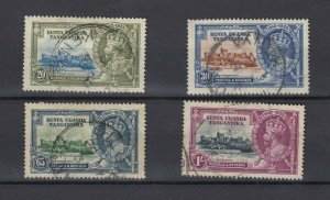 Kenya Uganda and Tanganyika 1935 Silver Jubilee Set SG124/127 VFU JK5604