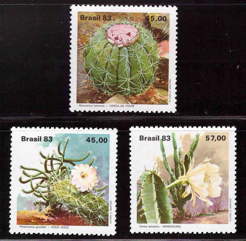 Brazil Scott  1880-1882  MNH** cactus flower stamp set