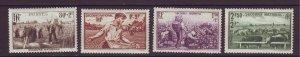 J24603 JLstamps 1940 france set mh #b104-7 farming