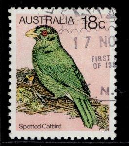 AUSTRALIA QEII SG734b, 1980 18c spotted catbird, FINE USED.