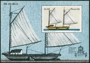 Brazil 1707,MNH.Michel 1781 Bl.43. Stamp Day,1980.Sao Francisco River Canoe.