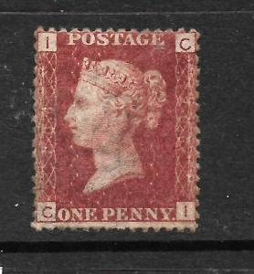 GREAT BRITAIN  1858-79  1d  LAKE RED  MNH  PLATE 206  SG 44