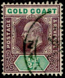 GOLD COAST SG49, ½d dull purple & green, FINE USED.