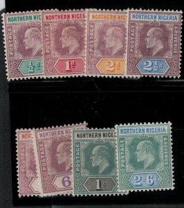 Northern Nigeria 1905 SC 19-26 Mint SCV $252.00 set