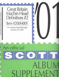 Scott Great Britain Machin Heads #2 Supplement 2001