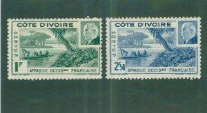 Ivory Coast 165-66 MH  BIN$ 1.65