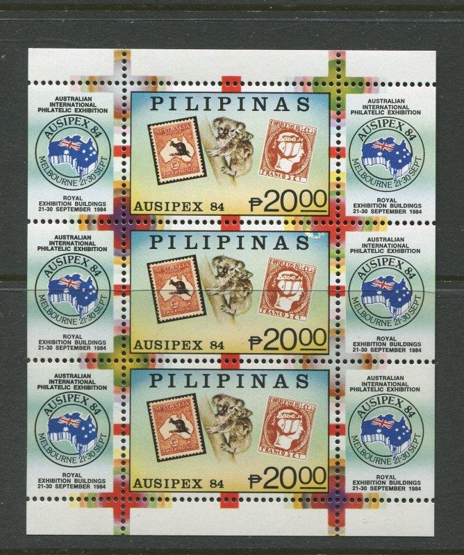 STAMP STATION PERTH Philippines #1710 Ausipex '84 Souvenir Sheet MNH CV$22.00.