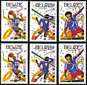 Belize 899-904, MNH, Seoul Summer Olympic Games