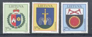 Lithuania Sc 958-0 2012 Coats of Arms stamp set mint NH