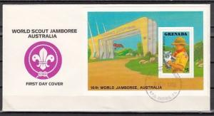 Grenada, Scott cat. 1596. Australian Scout Jamboree issue. First Day Cover.
