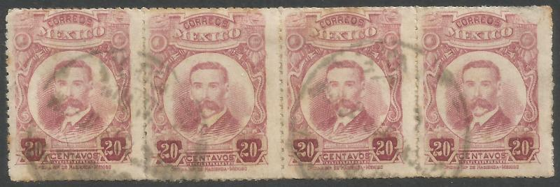 MEXICO 615 VFU STRIP OF 4 R12-128