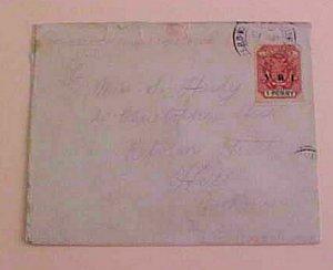 TRANSVAAL  1900 BRITISH SERVICE B/S ENGLAND