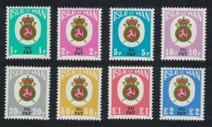 Isle of Man Postage Due Third issue 8v 1982 MNH SG#D17-D24