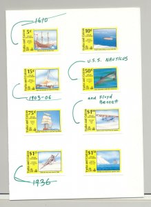 Turks & Caicos #883-892 Ships, Columbus 8v & 2v S/S Imperf Proofs in Folders