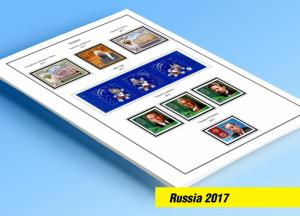 COLOR PRINTED RUSSIA 2017 STAMP ALBUM PAGES (20 illustrated pages)
