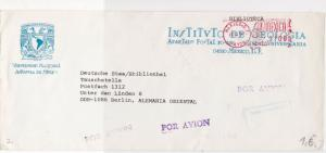 Mexico National Ann. of Autonomy  Meter Mail Airmail Stamps Cover Ref 29347