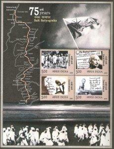 2005   INDIA  -  SG  MS 2270  -  75th ANNIVERSARY OF DANDI MARCH - GHANDI -  UMM