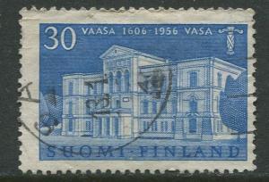 Finland - Scott 342 - Town Hall Vasa -1956- Used - Single 30m Stamp