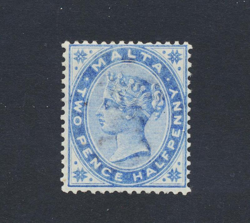 MALTA 1885, 2½d DULL BLUE, VF LH OG SG#24 CAT£65 $90(SEE BELOW)