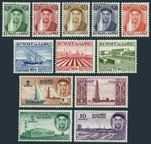 Kuwait 140-144,146-152,hinged. Mi 133/142. Sheik Abdulah.Dhow, Mosque, Oil plant